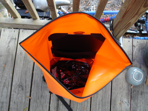 The inside of the bag -- a really large compartment for swallowing up your goodies!