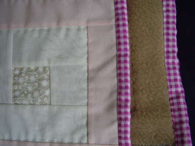 binding & backing baby quilt