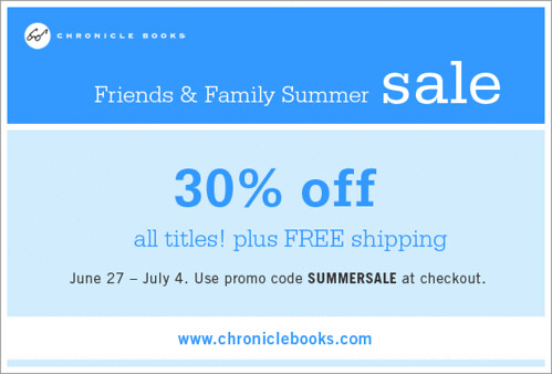 Chronicle Books Summer Sale