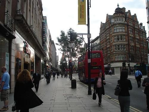 Walking to Work on Oxford Street