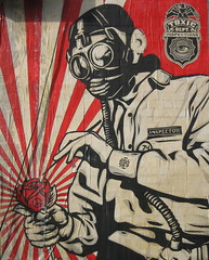 obey inspector (Luna Park) Tags: nyc streetart brooklyn wheatpaste obey williamsburg lunapark shepardfairey