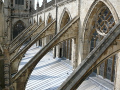 York Minster flying buttresses - by the noggin_nogged