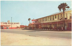 Long Beach Resort and Casino, Panama City Beach, postcard 50's/60's (stevesobczuk) Tags: florida motel casino americana panamacitybeach miraclestrip redneckriviera vintagepostcards longbeachresort us98 frontbeachrd