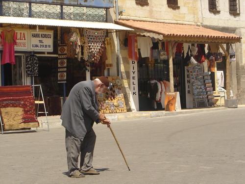 Las callecitas en Uchizar en Capadoccia