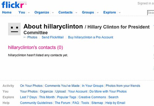 Should We Take Up a Collection to Buy Hillary a Flickr Pro Account?