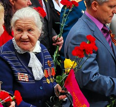 ain't she sweet (Todor Kamenov 石拓) Tags: nikon military wwii ukraine parade communism nikkor kiev kyiv medals victoryday d80