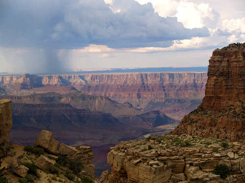 Summer storm over the Grand Canyon