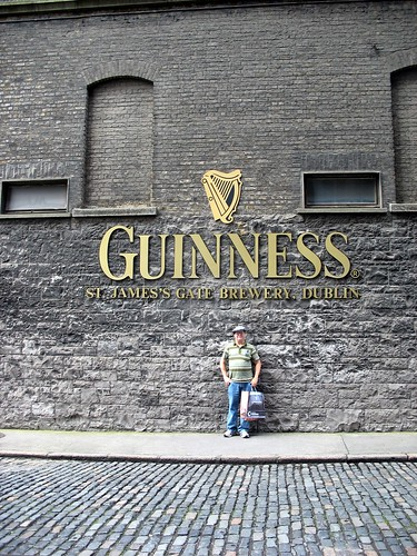 Jim in front of the Entrance to The Guinness Factory