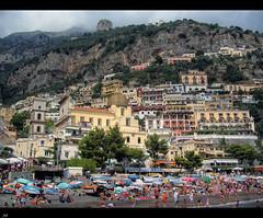 Positano (from the beach) (J.Salmoral) Tags: vacation italy praia beach mediterranean mediterraneo italia playa positano plage spiaggia italians platja plaj pl plazh plaje plaj juanillooo juansalmoral   plaowy