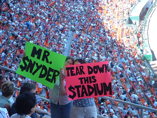 Mr. $nyder tear down this stadium