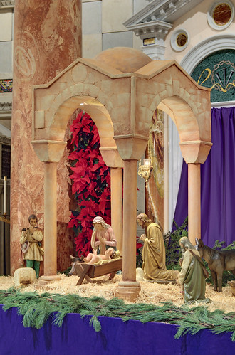Cathedral Basilica of Saint Louis, in Saint Louis, Missouri, USA - Christmas crèche