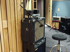 Bass set-up for a Jeremy Mix session. Everybody live, no headphones