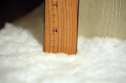 1 inch and counting...