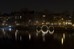 amsterdam at night (der_muk) Tags: longexposure bridge water amsterdam night grachten gracht langzeitbelichtung enlightedbridge
