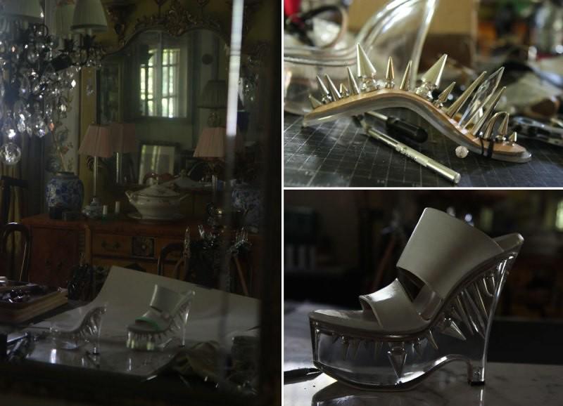 Indecorous Taste custom studded wedge heels 5