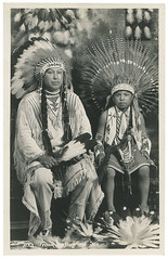 f_frank_hup_and_son (ricksoloway) Tags: photohistory foundphotos antiquephotos photographica rppc phototrouvee realphotopostcards vintagenativeamericans vintageamericanindians
