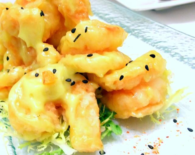 Deep Fried Prawns with Wasabi Mayo