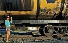 Diana on the train (AgusValenz) Tags: station train tren railway centralasia kazakhstan eurasia atyrau kazajistan