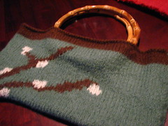 Felted purse finished