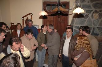 Sergio Cóser junto a referentes del partido