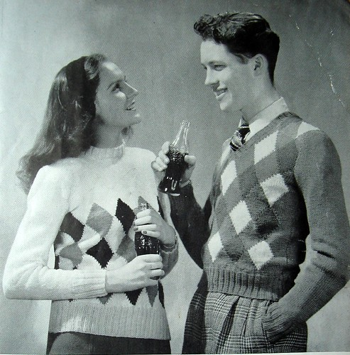 Diamond Pullovers. Because Teen-Agers love to drink Soda Pop.