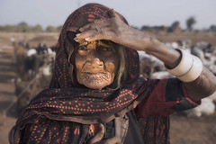 A Strong Woman (photosadhu) Tags: portrait woman india beauty michael veil desert sheep goat elderly nomad shawl gujarat matlach photosadhu