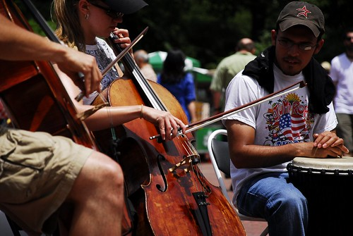 A Cello Thunders at Central park