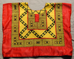 Tehuana Huipil in Red (Teyacapan) Tags: clothing mexican textiles ropa bordados embroideries oaxacan tipica zapotec tehuanas huipils