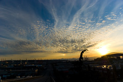 Sunset over the stadium (butter_fry) Tags: seattle sunset landscape sundog