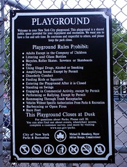 NYC Playground Rules  2007 (Lisanne!) Tags: nyc newyorkcity playground brooklyn coneyisland text rules signage 2007 cityofnewyork prohibit nycparks parksrecreation thatsanono prohibitingsign playgroundrules nycgov