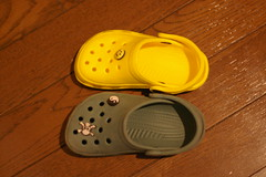 Holey Soles is smaller than crocs.
