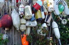 buoys (mtcspike) Tags: ocean sea summer color beach umbrella island erosion nantucket seal shore bouys buoyant