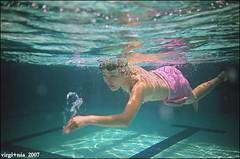 (Twiggy Tu) Tags: life blue film me lomo underwater frogeye myeverydaylife simmingpool