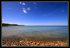A Day at the Lake (redmann) Tags: blue sky ontario canada water rocks searchthebest wideangle lakehuron goderich 10mm naturesfinest blueribbonwinner sigma1020 supershot thecontinuum specnature abigfave canon400d anawesomeshot colorphotoaward superbmasterpiece goldenphotographer diamondclassphotographer flickrdiamond wetraveltheworld