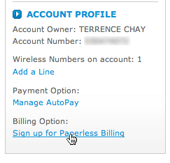 Time to sign up for Paperless Billing
