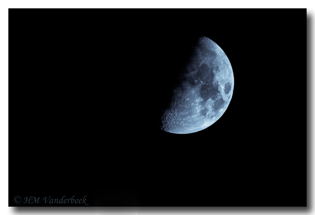 Last Night's Moon. I love taking pictures of the moon.