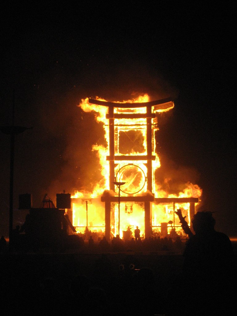 Temple Burn, Burning Man, 2007