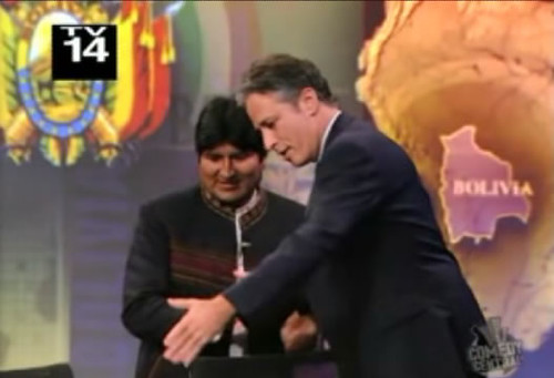 Evo Morales The Daily show