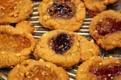 pb&j cookies.