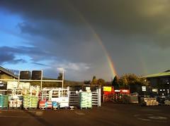 Double Rainbow! (Chrbul) Tags: sky rain clouds rainbow sunny double compost ledbury countrywide