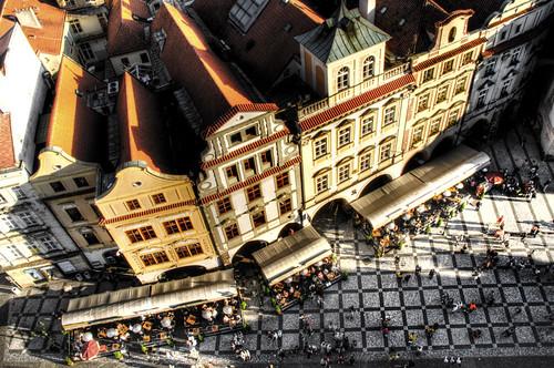Old town square. Prague. Plaza de la ciudad vieja. Praga