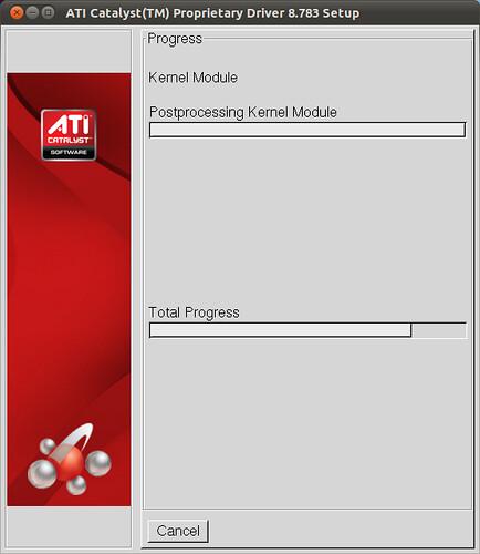 Figura 6 - Installazione Driver ATI Catalist in corso;