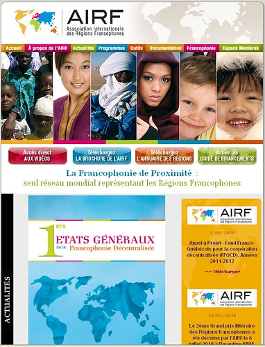 Site de l'Association Internationale des Régions Francophones
