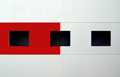 sQuaRED... (Julian E...) Tags: red white abstract black lines composition contrast searchthebest squares geometry holes mondrian soe squared pietmondrian blueribbonwinner supershot instantfave ultimateshot bratanesque caprpentry bauhausrendezvous