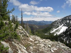 Looking South from Lower section of trail on Klone, Devils Lake, Kelly Mountain, Four Mile Ridge section of Devils Backbone, with Stormy and Baldy Mountain and the ridge we came up. That was a long ridge.