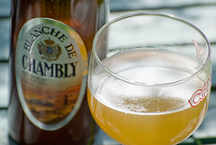 Cerveza blanca (white beer) - Blanche de Chambly