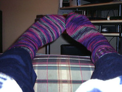 northern lights finished socks 2
