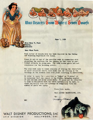 Disney Rejection Letter, 1938 - by sim sandwich