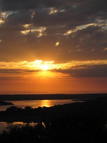 Uganda - QENP Mweya Sunrise from Suite 2