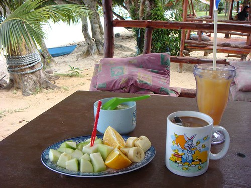 Healthy breakfast on Tioman Island, Malaysia.